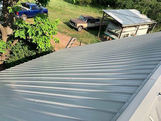 Gray Corrugated Metal Roofing Stokesdale NC