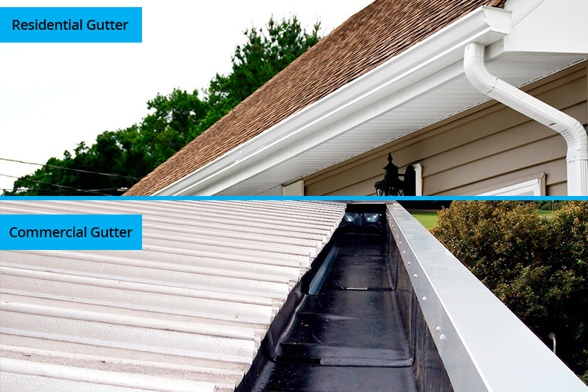 Are Commercial Gutters Different from Residential Gutters?