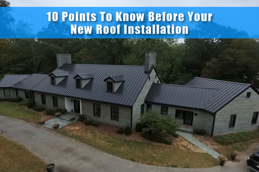 10 Points To Know Before Your New Roof Installation (Checklist)