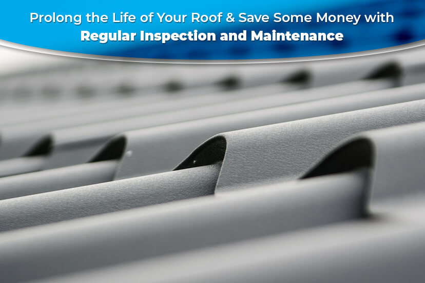 Prolong the life of your roof & save some money with regular inspection and maintenance