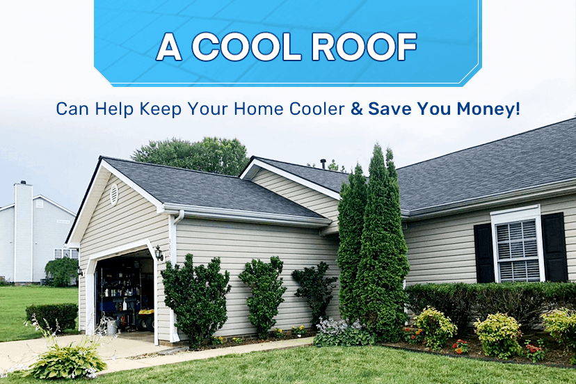 A cool roof can help keep your home cooler & save you money!