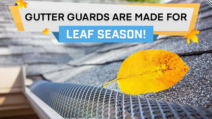 Gutter guards are made for leaf season!
